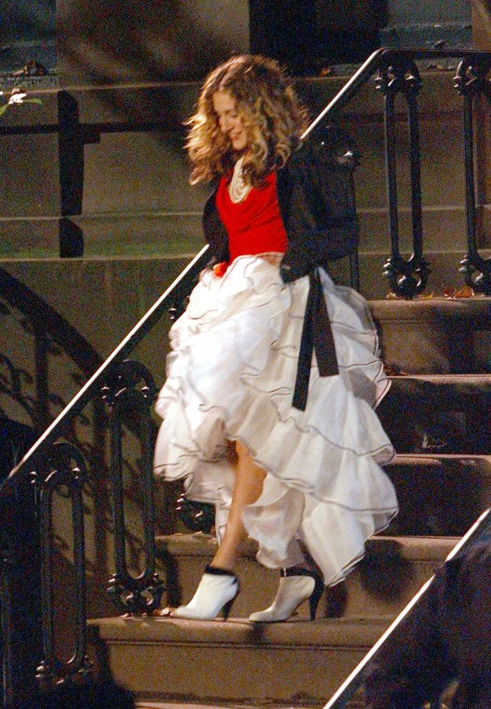 Sarah Jessica Parker tulle dress and boots
