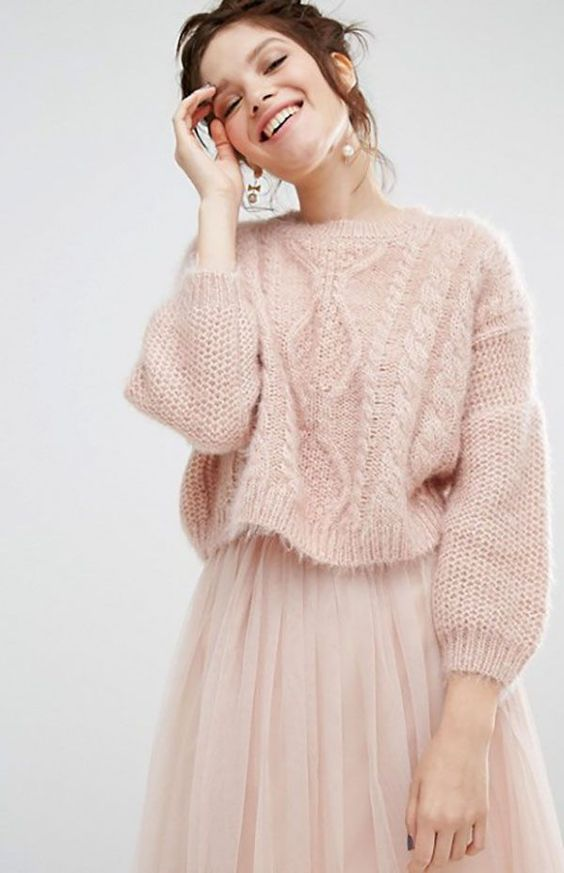 elegant cable knitwear