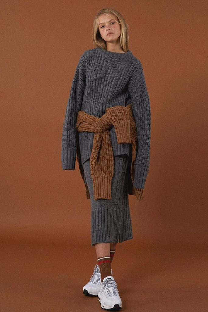 knitted-ribbed-sweater-skirt-set