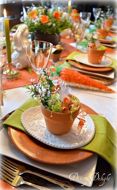 Carrots & Bunnies Easter Tablescape