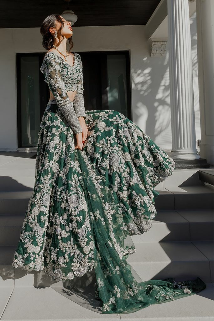 green-bridal-outfit