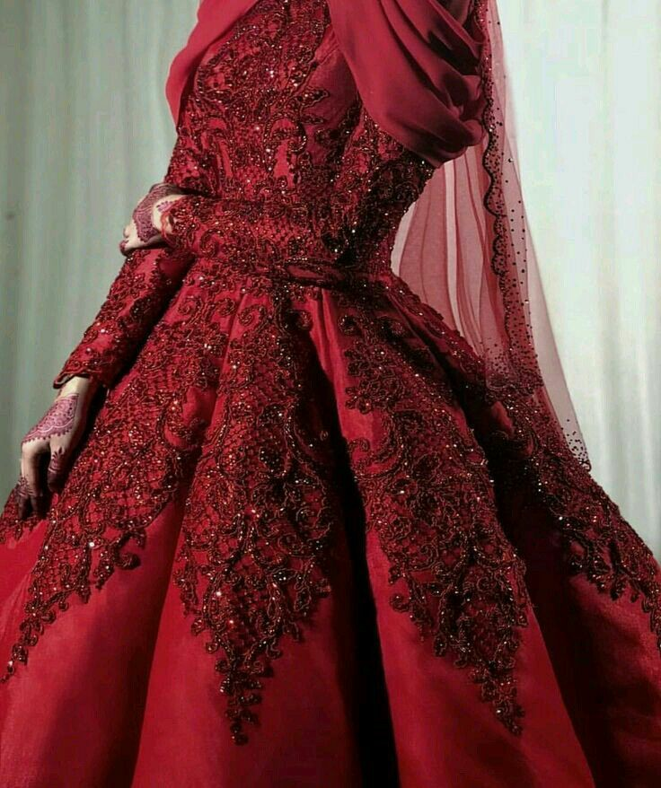 red-bridal-gown